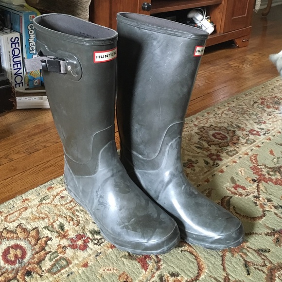 60% off Hunter Shoes - Hunter Boots Size 10 Women's +++ Tall White ...