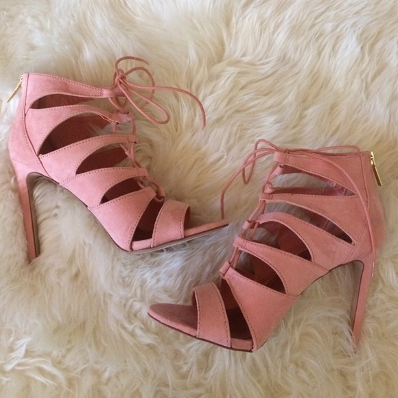 Madden Girl Shoes | Pink Lace Up Heels