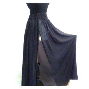 Full maxi bohemian skirt