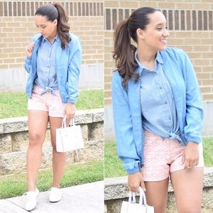 Blue Chambray Bomber Jacket