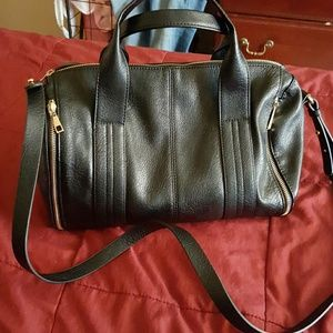 Faux leather Black duffle bag from Forever 21
