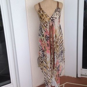 Mascara Tops - 100% Silk Sheer Dress/Top/Bathing suit cover up