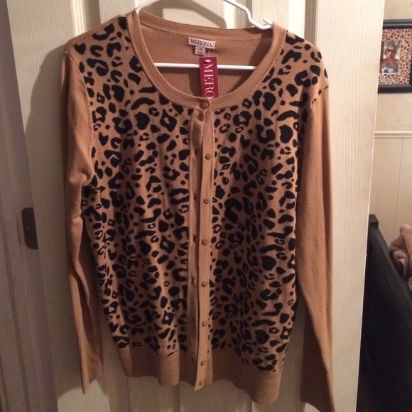 61% off Merona Sweaters - Leopard print cardigan NWT-- from Target ...