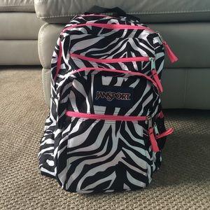 Zebra Print Jansport Backpack