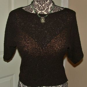 Lapis Tops - Pretty Brown Knit Top