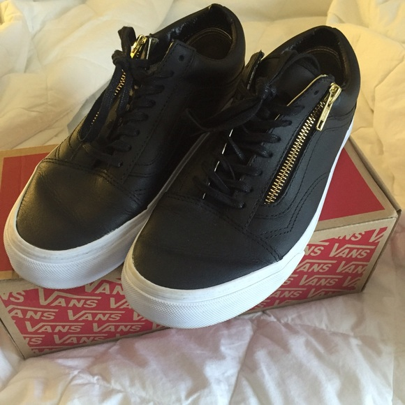 d5507000ff Gold and Black Old Skool Leather Vans. M 5727a9a02fd0b7a53c008ded. Other  Shoes ...