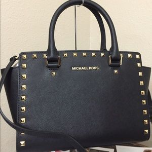 Brand New Michael Kors Selma Studded Black