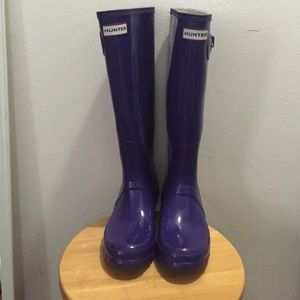 Purple hunter rainboots