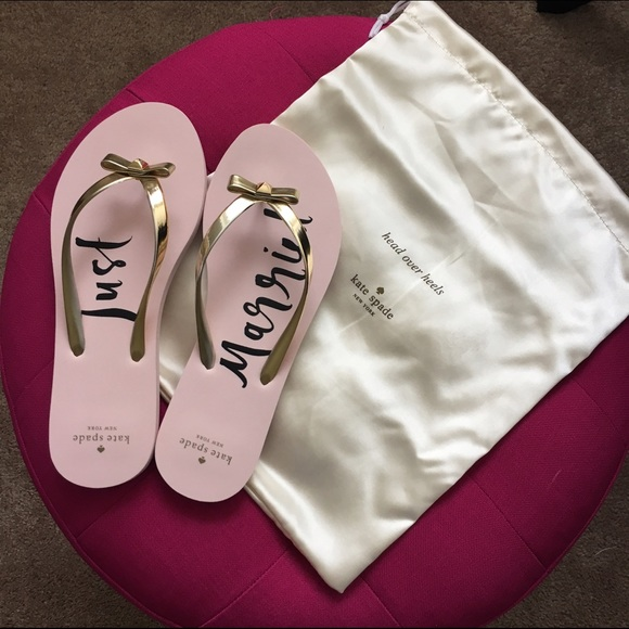 4db6f9f0e kate spade Shoes - Kate Spade Just Married Flip Flops
