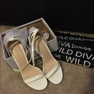 Shoes - White strappy heels