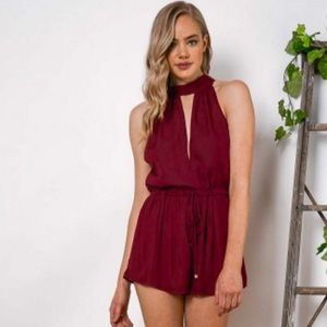 97c763c5363 Dolly Girl Fashion Other - Battle Up Playsuit in Burgundy!