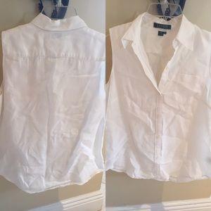 Ralph Lauren white linen top size small