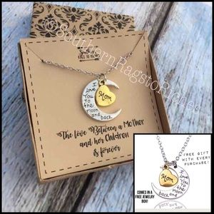 Jewelry - I Love You to the Moon and Back Mom Necklace