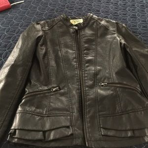 Maralyn & Me Jackets & Blazers - Adorable faux leather jacket