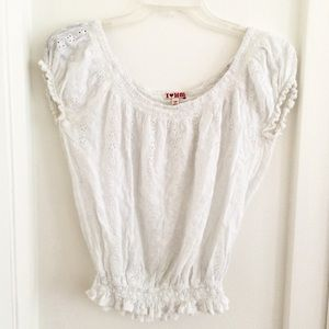 Heritage 1981 Tops - H81 White Eyelet Summer Top