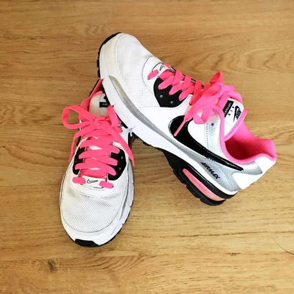 Nike Air Captivate black white and hot pink  <a href=