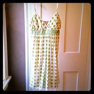 Lipstick Boutique Dresses & Skirts - Lipstick green polka dot sundress