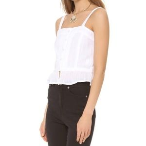 House of Harlow 1960 Tops - House Of Harlow 1960 Button Up Ruffle Crop Top
