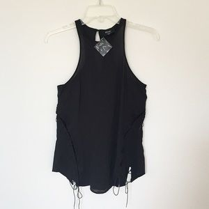 NEW Nastygal criss cross tank top