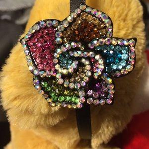 Accessories - Multi colored rhinestone hand made headband.