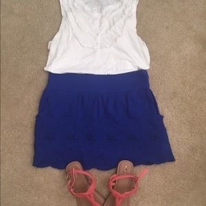 Delias lace scallop skirt with pockets