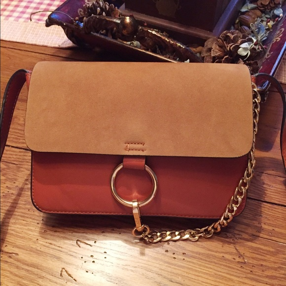 d82672a72fec7 Rust colored Chloe Faye like crossbody. M_5727e73ef739bc403c00f861