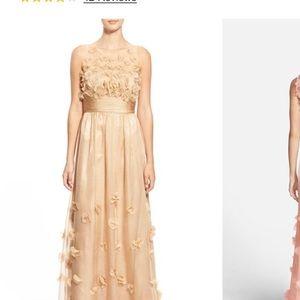 JS Collections Dresses & Skirts - Floral appliqué chiffon gown