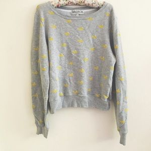 Wildfox Sweaters - Wildfox Baggy Beach Jumper Yellow Whale Print