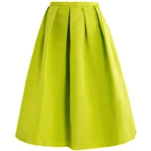 Yellow Neon full midi circle skirt blog favorite