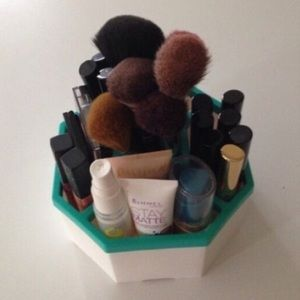 Makeup cosmetics brush storage organizer caddy