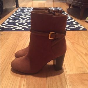 H&M brown suede booties
