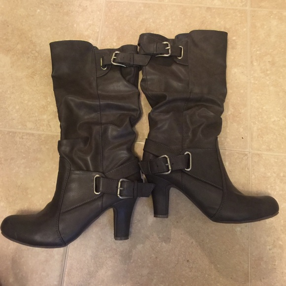 50 justfab shoes high boots from jenn s closet on
