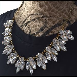 New Gold crystal jewelry statement collar necklace