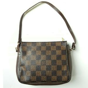 LOUIS VUITTON DAMIER EBENE TROUSSE POUCH