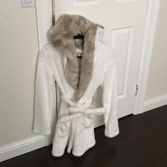 Faux Fur Bathrobe