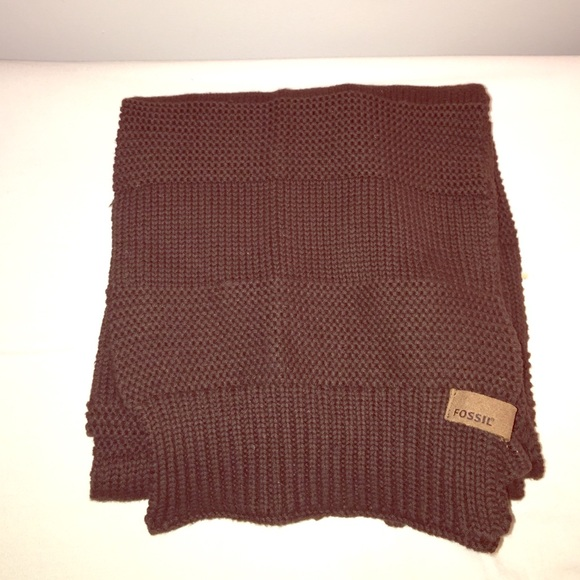 fossil brown knit fossil scarf from dacia s closet on