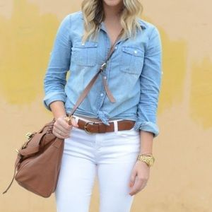 J.Crew The Perfect Shirt Chambray Button Up