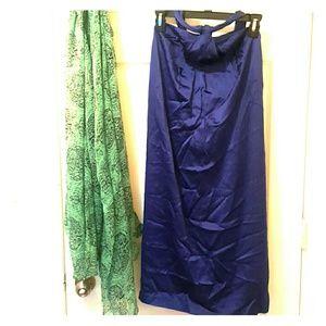 Reiss Dresses & Skirts - Reiss indigo satin dress