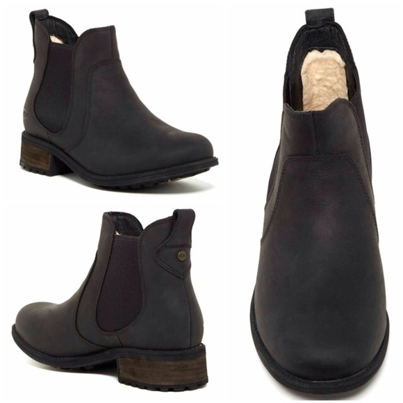 Official Website strong packing outlet UGG Leather Bonham Boots - Black NWT