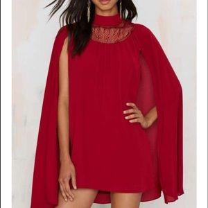 Nasty gal cape dress
