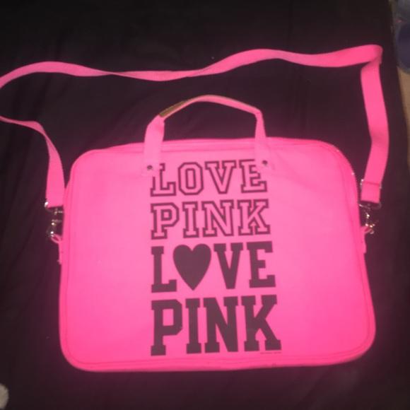 44% off PINK Victoria's Secret Handbags - LOVE PINK LAPTOP CASE ...