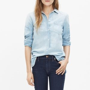 Madewell Chambray Button Down Top