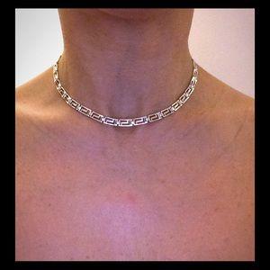"""Jewelry - 16"""" Sterling Silver, Greek Key Link Necklace 💎"""