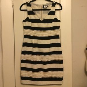 Just Taylor Dresses & Skirts - Just Taylor Black and Cream Striped Dress