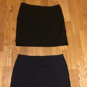 Two Mini Pencil Skirts
