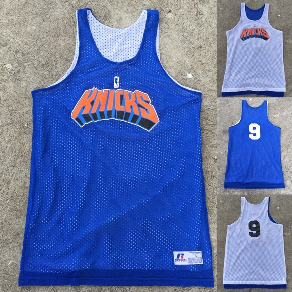 quality design b8767 a319b New York Knicks Practice Jersey reversible melo