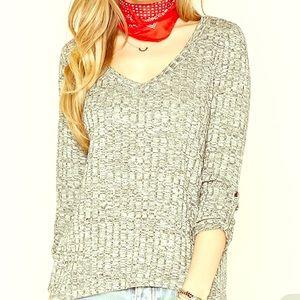 Marled Ribbed Knit top