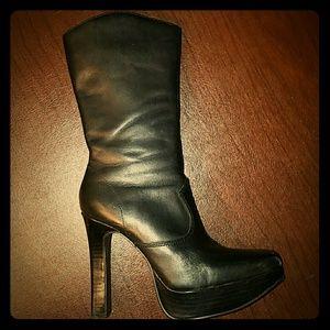 High Heeled Platform Boots