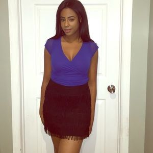 Chelsea & Violet Dresses & Skirts - Chelsea & Violet Fringed mini