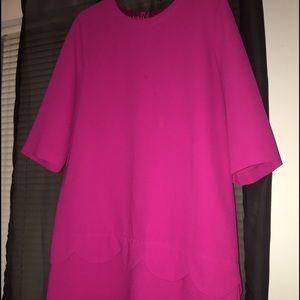 Kate Spade scalloped peplum dress